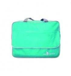 Pasta com compartimento, bolso frontal com tampa e Alça de mão e tiracolo